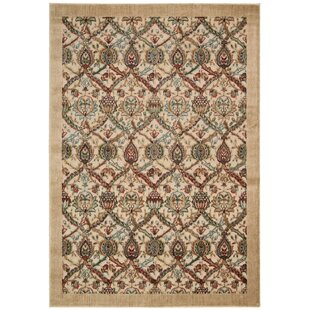 Check Prices Driftwood Beige Area Rug by Bloomsbury Market
