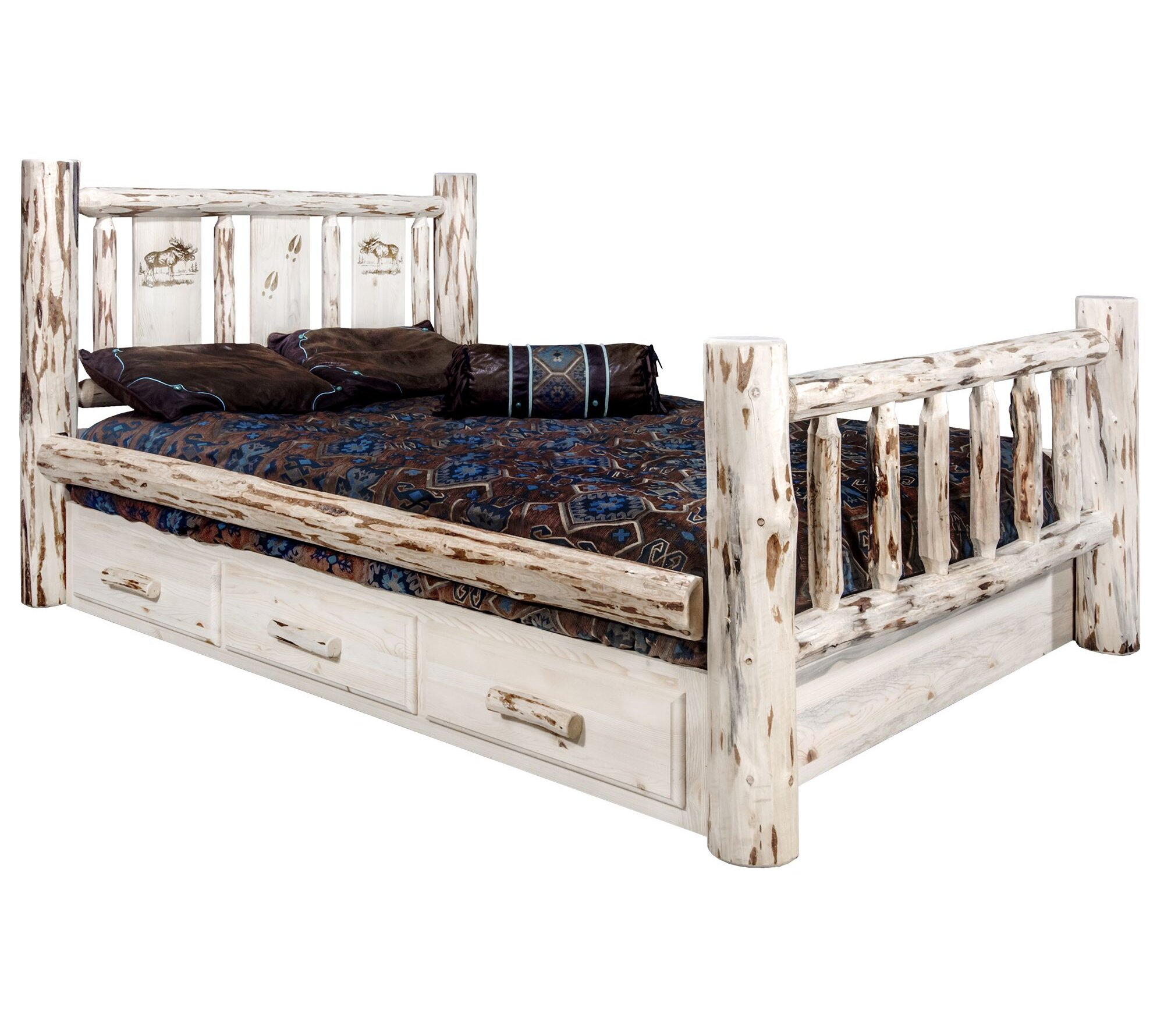 Millwood Pines Antigo Storage Platform Bed Wayfair