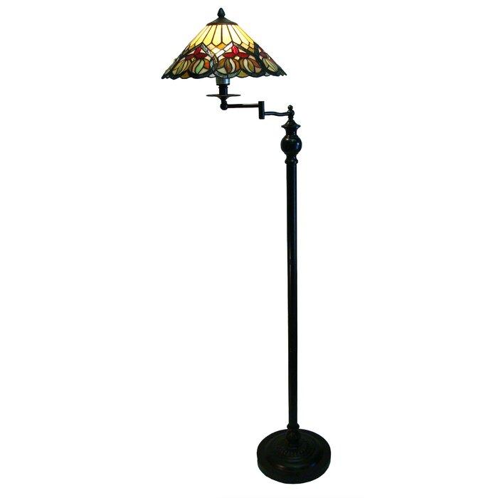 Commodore Tiffany 62 Swing Arm Floor Lamp