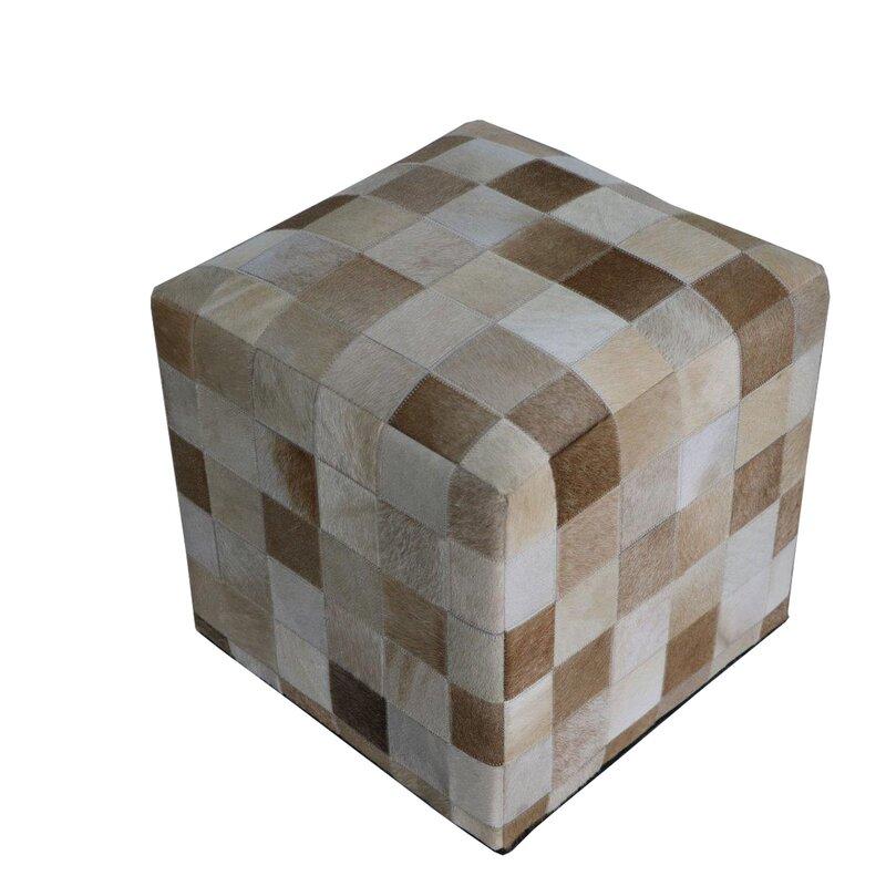 Wrought Studio Golson Geometric Hide Pouf Wayfair Gorgeous Hide Pouf