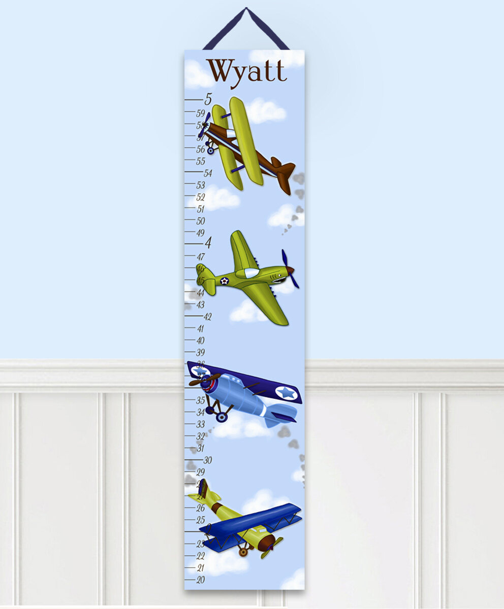 Toad And Lily Airplane Personalized Growth Chart Reviews Wayfair