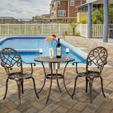 Manan Outdoor 3 Piece Bistro Set