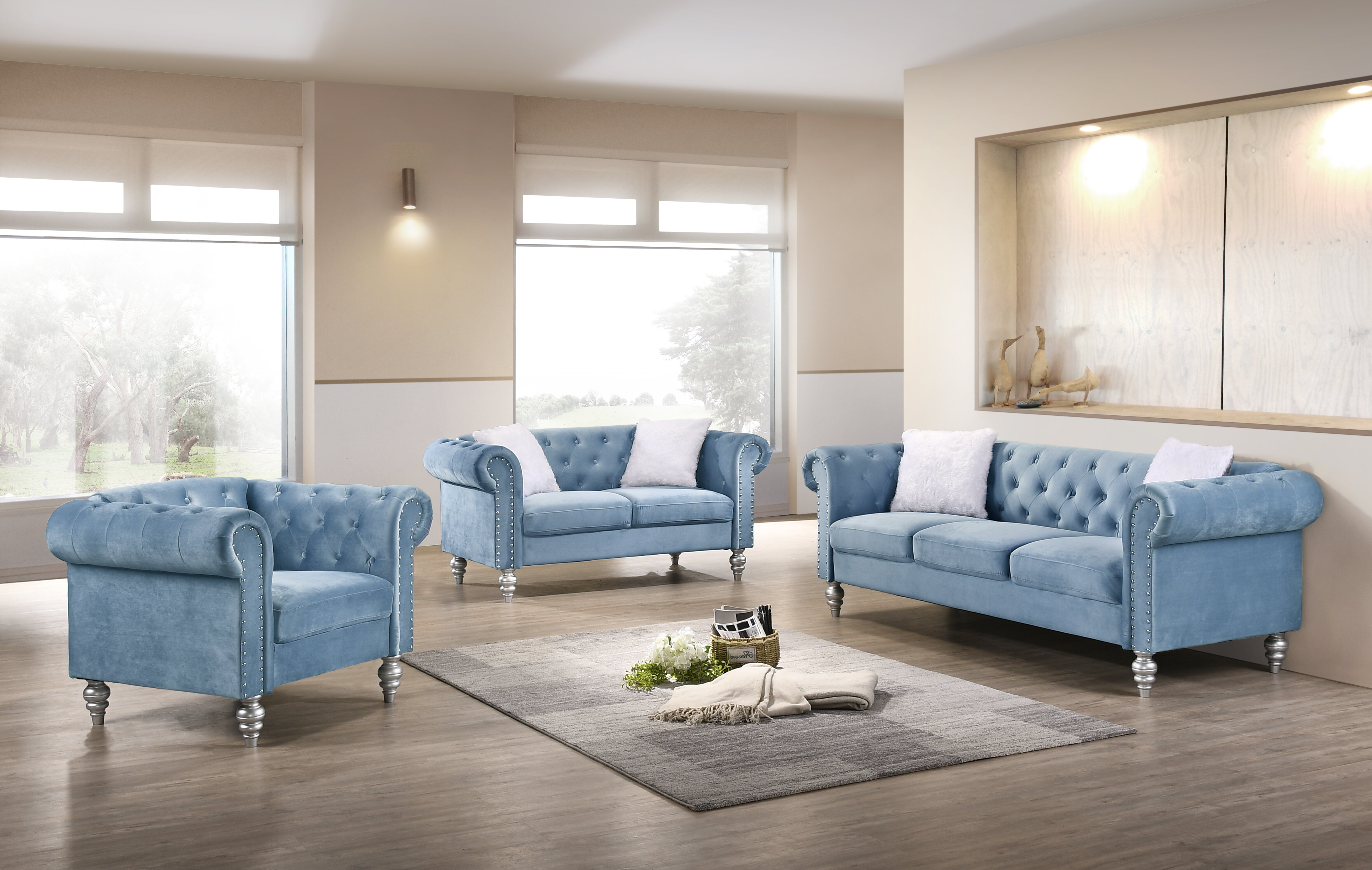 Rosdorf Park Tena 3 Piece Living Room Set Reviews Wayfair