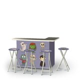 Zambom Halloween Friends 5-Piece Bar Set