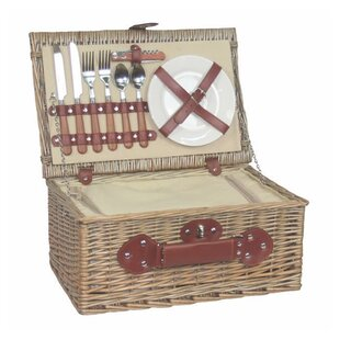 2 Person Chiller Fitted Picnic Basket By Brambly Cottage