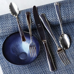 Borgo 5 Piece Stainless Steel Flatware Set, Service for 1