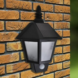 Sharpsburg LED Solar Outdoor Wall Light With Motion Sensor By Ophelia & Co.