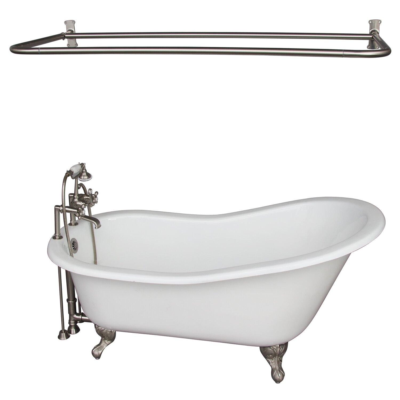 Barclay Griffin Cast Iron 61 X 31 Clawfoot Soaking Bathtub Wayfair