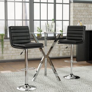 Madeline 24 Swivel Bar Stool (Set of 2) Zipcode Design