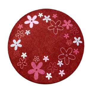 Red Area Rug by Zala Living