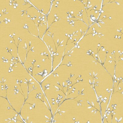 """Sage Hill 33' x 20.5"""" Wallpaper Roll Color: Yellow"""