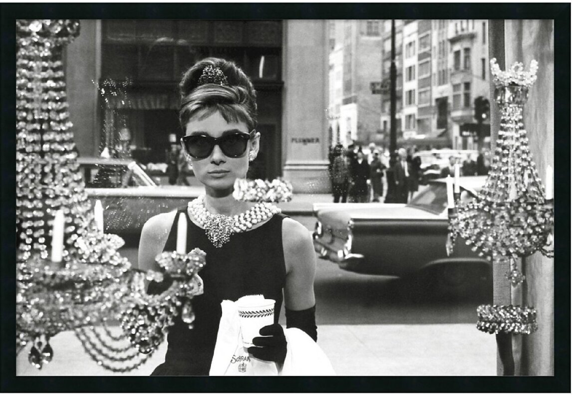 Latitude Run Audrey Hepburn in Breakfast at Tiffany\'s Framed ...