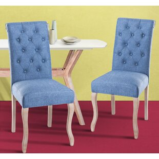 Rome Upholstered Dining Chair (Set of 2) by Charlton Home