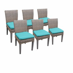 Florence Patio Dining Chair with Cushion (Set of 6) by TK Classics