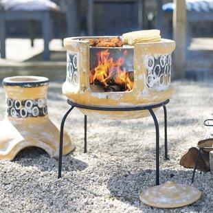 Breccan Clay Wood Burning Chiminea Image