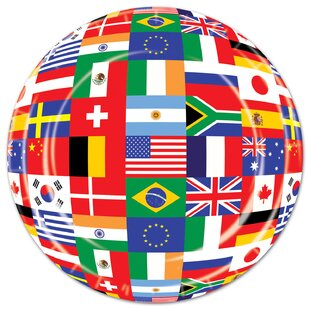International Flag Paper Plate