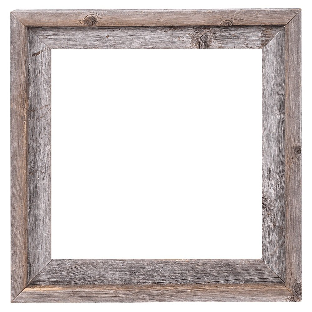 Charmant Reclaimed Barn Wood Open Picture Frame