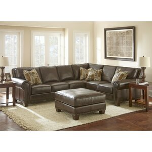 Leather Sectional by Darby Home Co
