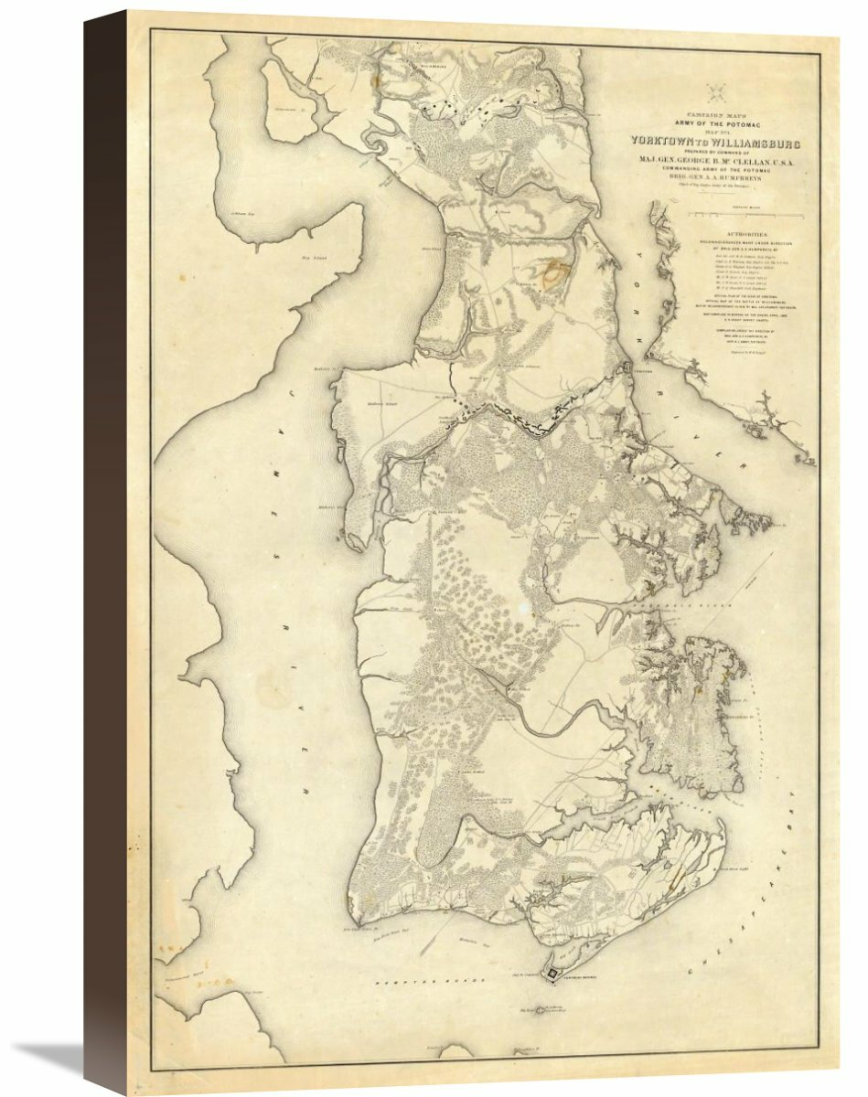 Global Gallery Civil War Yorktown To Williamsburg 1862 By Henry L Abbot Graphic Art On Wrapped Canvas Wayfair