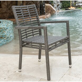 Graphite Stacking Patio Dining Chair