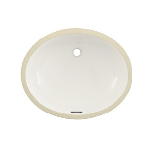 Compare Reliance Commercial Ceramic Oval Undermount Bathroom Sink with Overflow By Toto