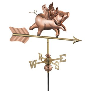 Caldicot Flying Pig Weathervane By Sol 72 Outdoor