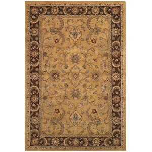 Monticello Amber/Brown Persian Area Rug