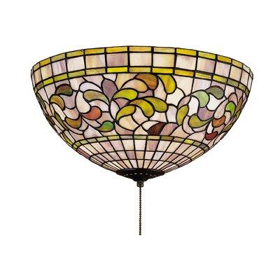 Meyda Tiffany 3-Light Tiffany Turning Leaf Light Kit