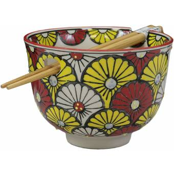 World Menagerie Basug 18 Oz Whimsical Lucky Meow Cat Rice Bowl Wayfair