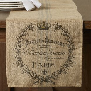 Saxatil Burlap Table Runner