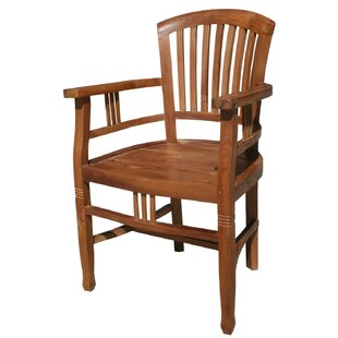 Bauman Teak Patio Dining Arm Chair