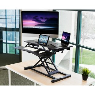 Citrana Height Adjustable Standing Desk Converter by Symple Stuff Find