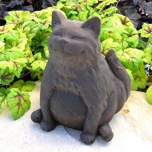 Nichols Bros. Stoneworks Happy Fat Cat Statue