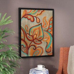U0027Bohemian Paisley IIu0027 Framed Printing Paint