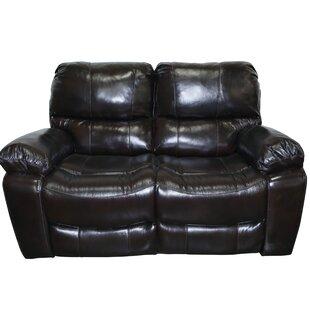 Three Posts Carraton Modern Leather Reclining Loveseat