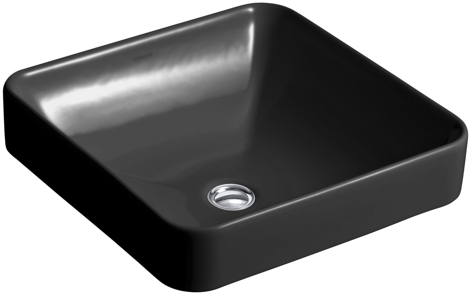 Vox Ceramic Square Vessel Bathroom Sink With Overflow Reviews Allmodern