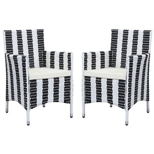 Travis Patio Dining Chair with Cushion (Set of 2)