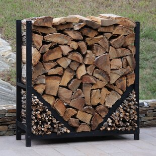 4' Straigth Firewood Log Rack With Kindling Kit By ShelterIt