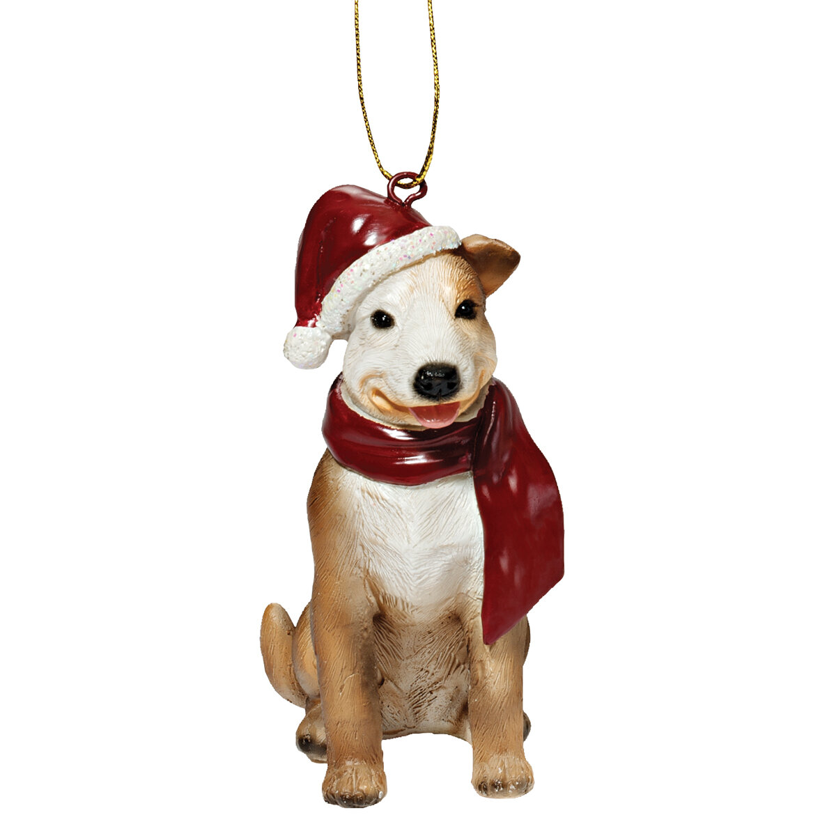 Pitbull Christmas Ornament.Pitbull Holiday Dog Ornament