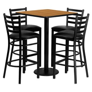 Akriti 5 Piece Pub Table Set b..