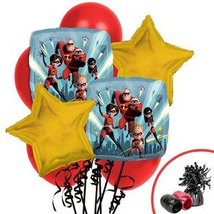 13 Piece The Incredibles 2 Balloon Bouquet Plastic Disposable Centerpiece Set
