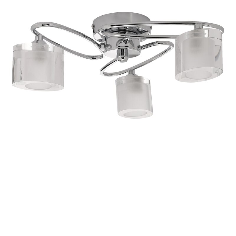 Avenida 3 Light Semi Flush Mount