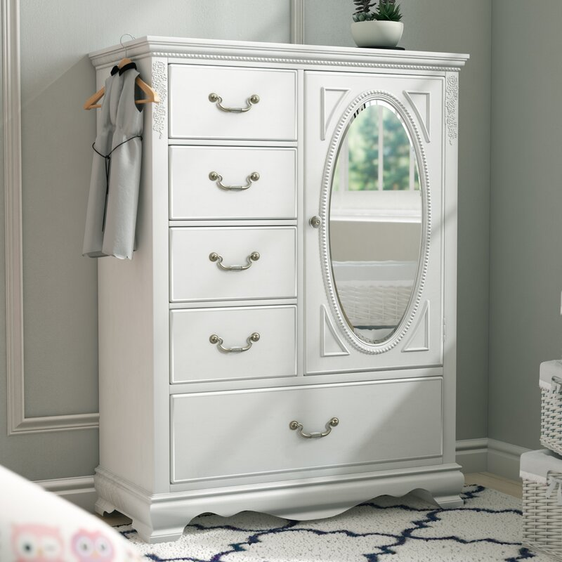 Delicieux Theo White Armoire