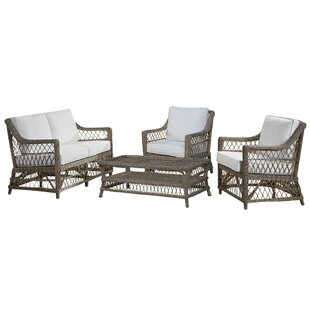 Best Reviews Seaside 4 Piece Conservatory Living Room Set by Panama Jack Sunroom Reviews (2019) & Buyer's Guide