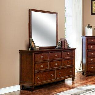 Alcott Hill Jarvis 8 Drawer Dresser with Mirror