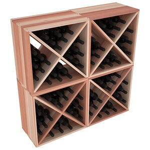 Karnes Redwood X-Cube 96 Bottle Floor Wine Rack by Red Barrel Studio