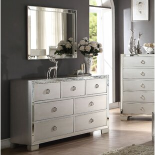 Lancelot 7 Drawer Dresser with Mirror by House of Hampton