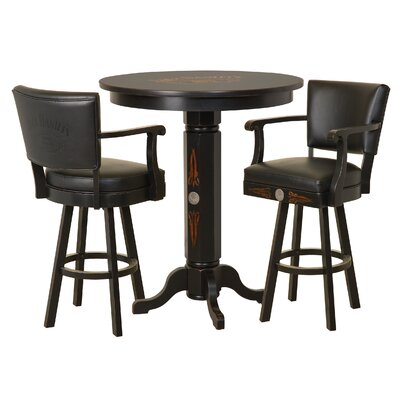 Wood 3 Piece Pub Table Set Jack Daniels