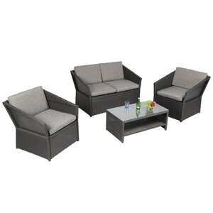 Mare 4 Piece Sofa Set with Cushions