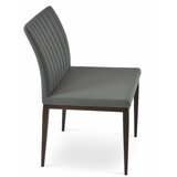 Zeyno Upholstered Side Chair in Gray by sohoConcept